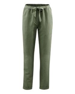 Kakigrønn bukse - økologisk lin og bomull » Etiske & økologiske klær » Grønt Skift