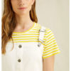 Hvit pinafore kjole - 100 % økologisk bomull » Etiske & økologiske klær » Grønt Skift