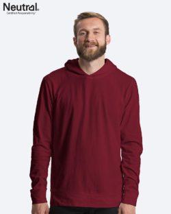 Burgunder unisex jersey hettegenser - 100 % økologisk bomull » Etiske & økologiske klær » Grønt Skift