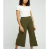 Khaki 7/8 dels bukse - økologisk bomull » Etiske & økologiske klær » Grønt Skift