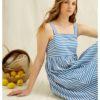 Blå stripete kjole - 100 % økologisk bomull » Etiske & økologiske klær » Grønt Skift