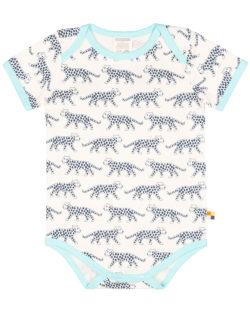 Lyseblå og hvit body med leoparder - 100 % økologisk bomull » Etiske & økologiske klær » Grønt Skift