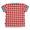 Rød, blå og hvit t-skjorte med ugler - 100 % økologisk bomull » Etiske & økologiske klær » Grønt Skift