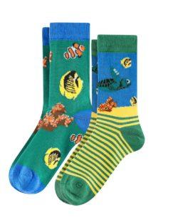 2 par sokker med fiskemotiv i økologisk bomull » Etiske & økologiske klær » Grønt Skift