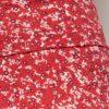 Rødt skjørt med blomster - økologisk bomull » Etiske & økologiske klær » Grønt Skift