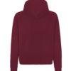 Burgunder unisex hettejakke - 100 % økologisk bomull » Etiske & økologiske klær » Grønt Skift