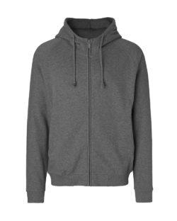 Mørkegrå unisex hettejakke - 100 % økologisk bomull » Etiske & økologiske klær » Grønt Skift