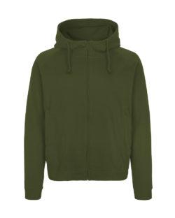 Militærgrønn unisex hettejakke - 100 % økologisk bomull » Etiske & økologiske klær » Grønt Skift