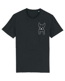Svart herre t-skjorte med hund i 100 % økologisk bomull » Etiske & økologiske klær » Grønt Skift