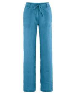 Sjøblå sommerbukse i 100 % hamp » Etiske & økologiske klær » Grønt Skift
