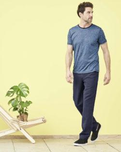 Blåmelert t-skjorte - 100 % økologisk lin » Etiske & økologiske klær » Grønt Skift