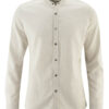 Hvit langermet skjorte - hamp og økologisk bomull » Etiske & økologiske klær » Grønt Skift