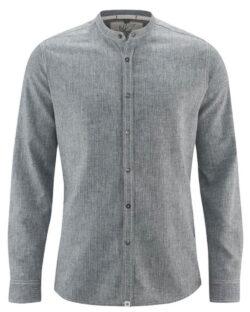 Grå langermet skjorte - hamp og økologisk bomull » Etiske & økologiske klær » Grønt Skift