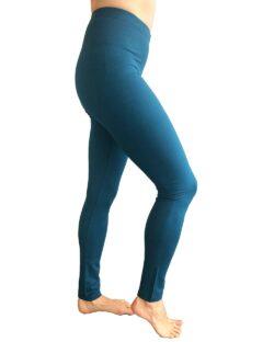Tykke, petrolblå tights i bambusviskose » Etiske & økologiske klær » Grønt Skift