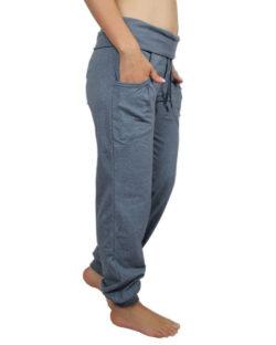 Blåmelert yogabukse med lommer - økologisk bomull » Etiske & økologiske klær » Grønt Skift