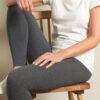 Mørk gråmelert Annedore leggings - økologisk bomull » Etiske & økologiske klær » Grønt Skift