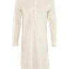 Naturhvit unisex retro nattkjole - 100 % økologisk bomull » Etiske & økologiske klær » Grønt Skift
