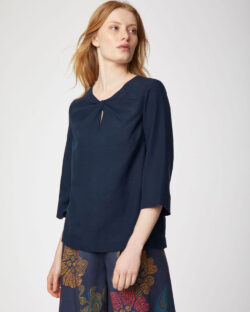 Mørkeblå bluse - 100 % tencel™ » Etiske & økologiske klær » Grønt Skift