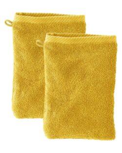 Okergul 2 pk. vaskeklut i 100 % økologisk bomull » Etiske & økologiske klær » Grønt Skift