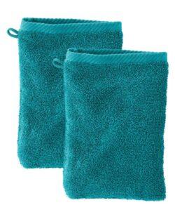 Petrolblå 2 pk. vaskeklut i 100 % økologisk bomull » Etiske & økologiske klær » Grønt Skift