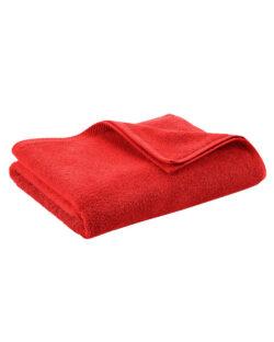 Rødt badehåndkle i 100 % økologisk bomull » Etiske & økologiske klær » Grønt Skift