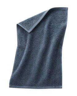 Blått gjestehåndkle i 100 % økologisk bomull » Etiske & økologiske klær » Grønt Skift