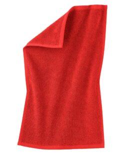 Rødt gjestehåndkle i 100 % økologisk bomull » Etiske & økologiske klær » Grønt Skift