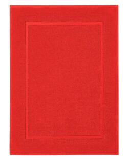Rød badematte i 100 % økologisk bomull » Etiske & økologiske klær » Grønt Skift