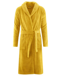Okergul morgenkåpe i 100 % økologisk bomull » Etiske & økologiske klær » Grønt Skift