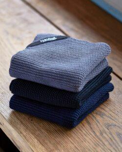 2 pack ribbestrikkede kjøkkenkluter - 100 % økologisk bomull » Etiske & økologiske klær » Grønt Skift