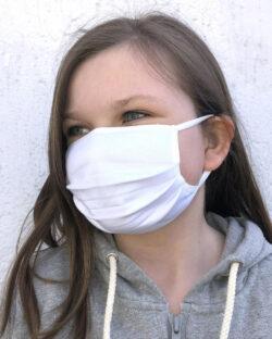 Hvitt munnbind for barn - 100 % økologisk bomull » Etiske & økologiske klær » Grønt Skift