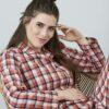 Rød og blå rutete pysj - 100 % økologisk bomull » Etiske & økologiske klær » Grønt Skift