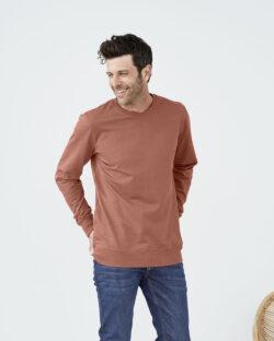 Brunorange genser i 100% økologisk bomull » Etiske & økologiske klær » Grønt Skift