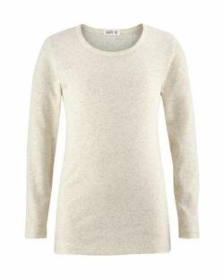 Naturhvit melange trøye i 100 % økologisk bomull » Etiske & økologiske klær » Grønt Skift