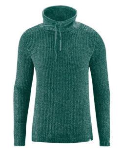 Grønn tykk genser med orginal hals - resirkulert hamp og økologisk bomull» Etiske & økologiske klær » Grønt Skift