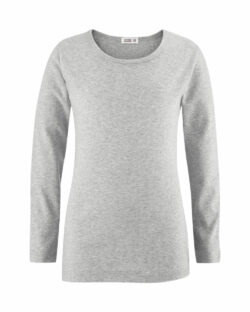 Grå melange trøye i 100 % økologisk bomull » Etiske & økologiske klær » Grønt Skift