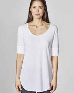Hvit t-skjorte med halvlange ermer - økologisk bomull og hamp » Etiske & økologiske klær » Grønt Skift