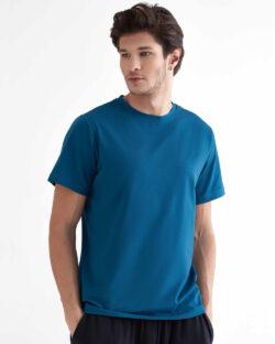 Petrolblå t-skjorte - økologisk bomull og modal » Etiske & økologiske klær » Grønt Skift