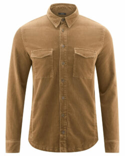 Brun beige skjorte med brystlommer - økologisk bomull » Etiske & økologiske klær » Grønt Skift