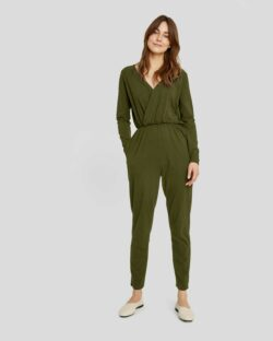 Khaki Odette jumpsuit - økologisk bomull » Etiske & økologiske klær » Grønt Skift