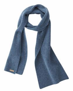 Blått unisex skjerf - 100 % økologisk ull » Etiske & økologiske klær » Grønt Skift