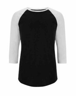 Unisex baseball trøye i svart og hvit - 100 % økologisk bomull » Etiske & økologiske klær » Grønt Skift
