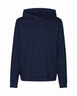 Mørkeblå unisex jersey hettegenser - 100 % økologisk bomull » Etiske & økologiske klær » Grønt Skift