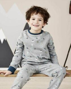 Blå og grå pysjamas i 100 % økologisk bomull » Etiske & økologiske klær » Grønt Skift
