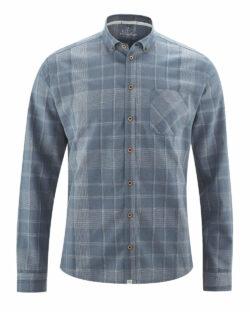 Blå rutete skjorte - hamp og økologisk bomull » Etiske & økologiske klær » Grønt Skift