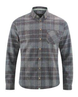 Grå rutete skjorte - hamp og økologisk bomull » Etiske & økologiske klær » Grønt Skift