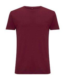 Mørk rød t-skjorte i 70 % EcoVero™ viskose og 30 % økologisk bomull » Etiske & økologiske klær » Grønt Skift