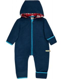 Navy ullfleecedress med hette - økologisk ull/bomull » Etiske & økologiske klær » Grønt Skift