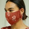 Rustbrunt munnbind med blomster - 100 % Tencel™ Lyocell » Etiske & økologiske klær » Grønt Skift
