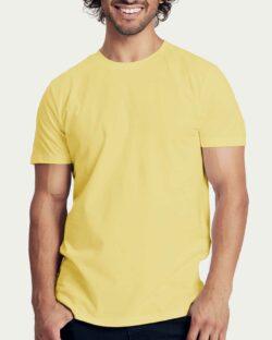 Lys gul slightly fitted t-skjorte - 100 % økologisk bomull » Etiske & økologiske klær » Grønt Skift